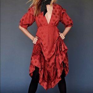 BLACK Stevie Midi Dress NWOT